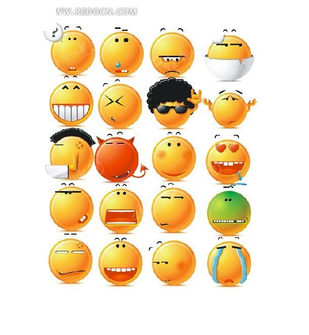 qq表情  聊天表情设计  聊天表情 表情设计  人物表情   阿里旺旺图片