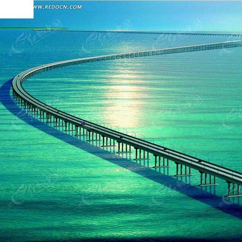 长桥简笔画手绘