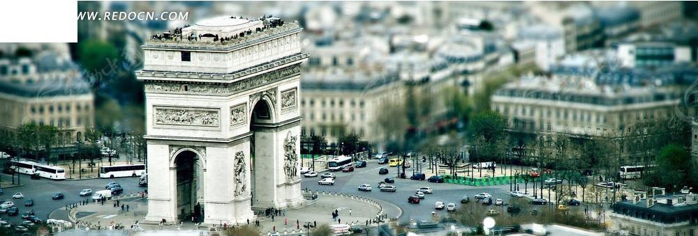 欧式建筑街景淘宝海报背景