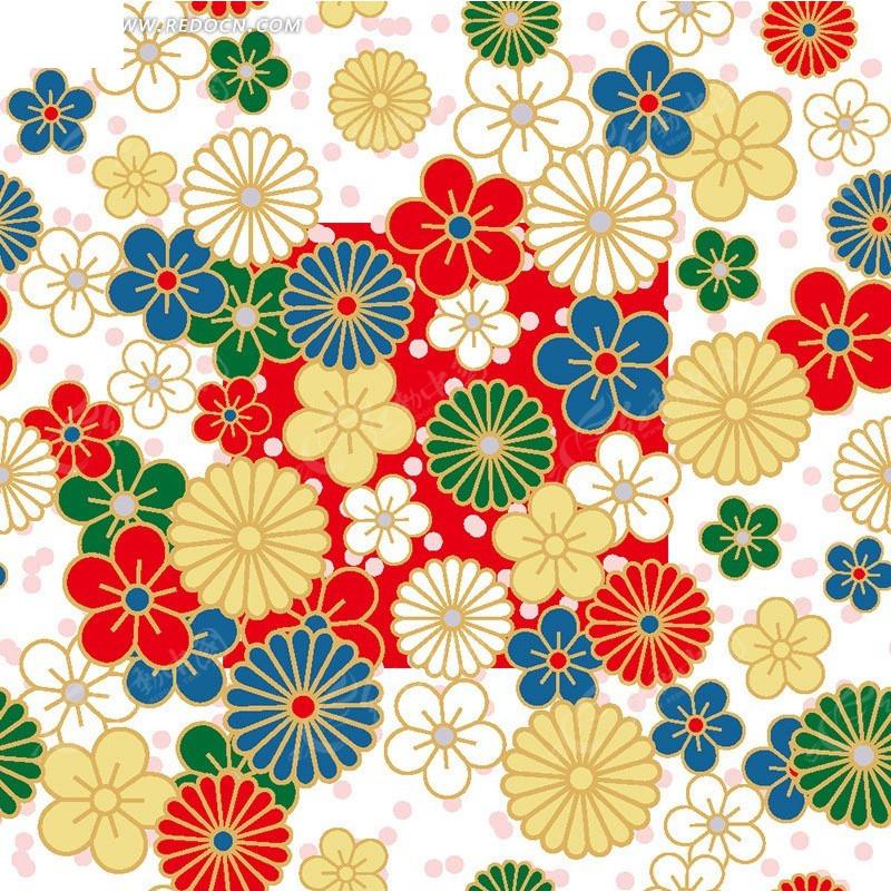 手绘花朵背景素材