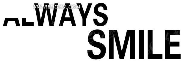 永远微笑淘宝英文海报字体设计