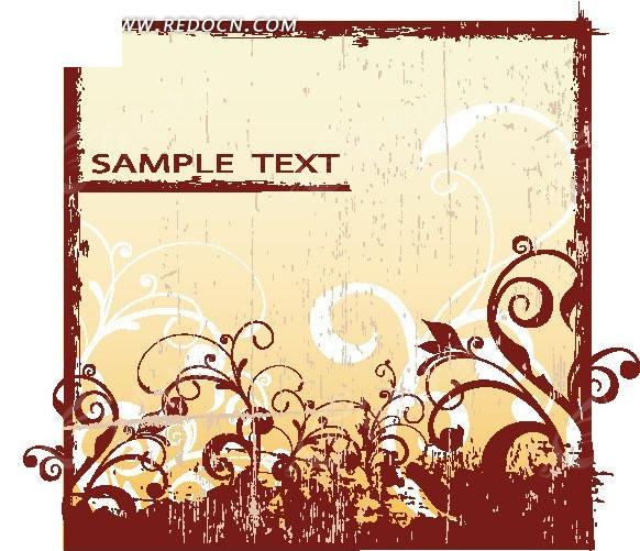 红色边框欧式花纹底图eps免费下载_花纹花边素材
