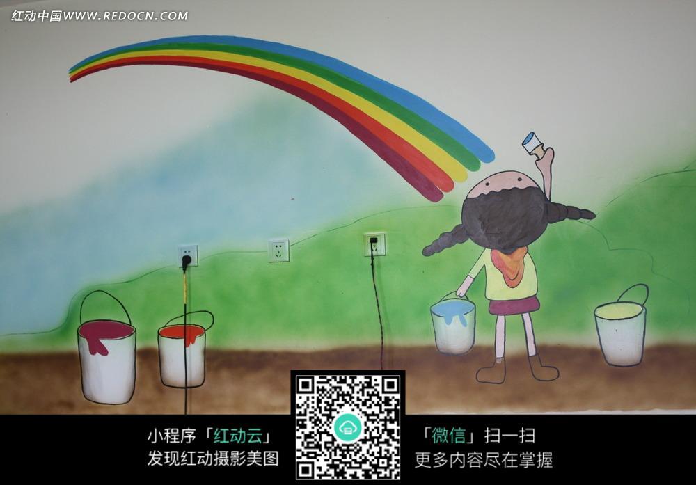卡通墙体绘画照片图片图片