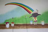 卡通墙体绘画照片