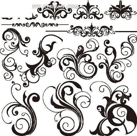 欧式边框装饰花纹素材矢量图eps免费下载