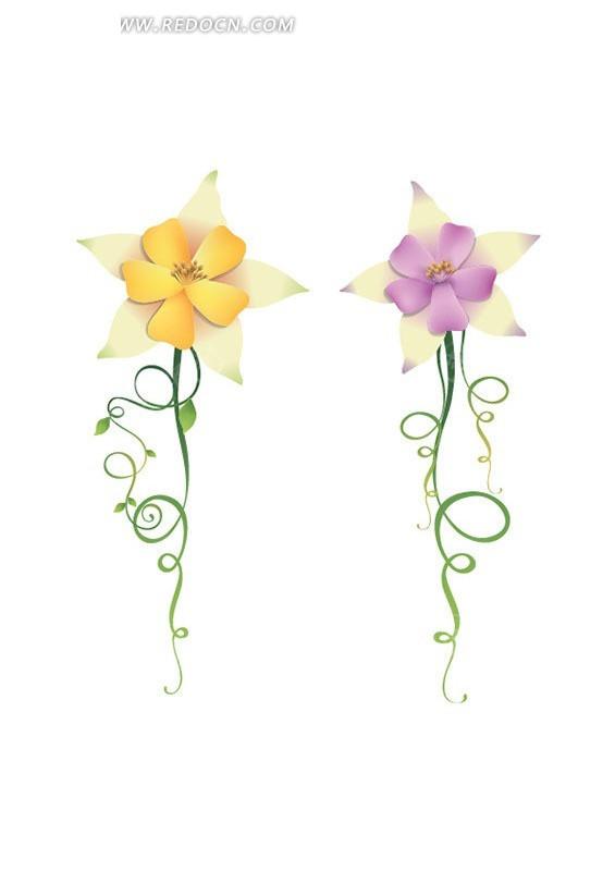 手繪花朵花紋素材