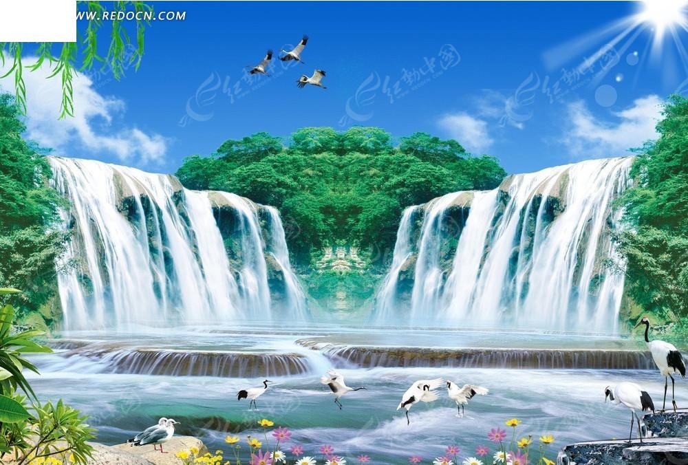 壁纸 风景 旅游 瀑布 山水 桌面 1000_706图片
