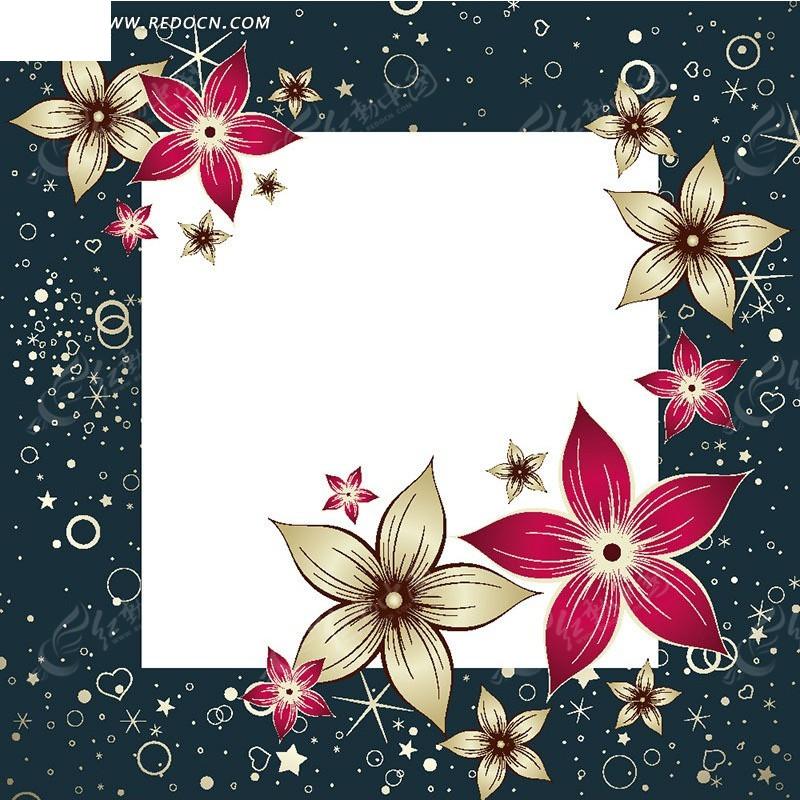 花瓣素材边框背景素材图片