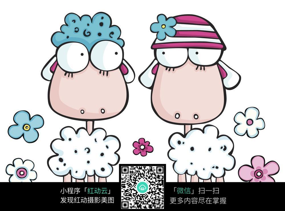情侣羊羊图片_动物图片