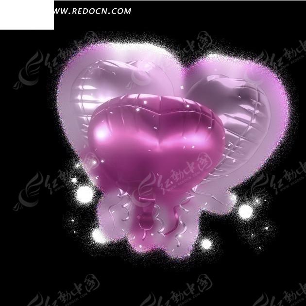 粉色爱心气球视频素材