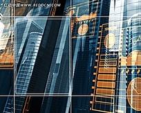 高楼建筑玻璃反射视频素材