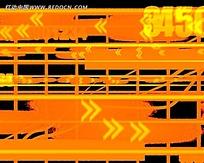 橘色箭头纹路视频素材