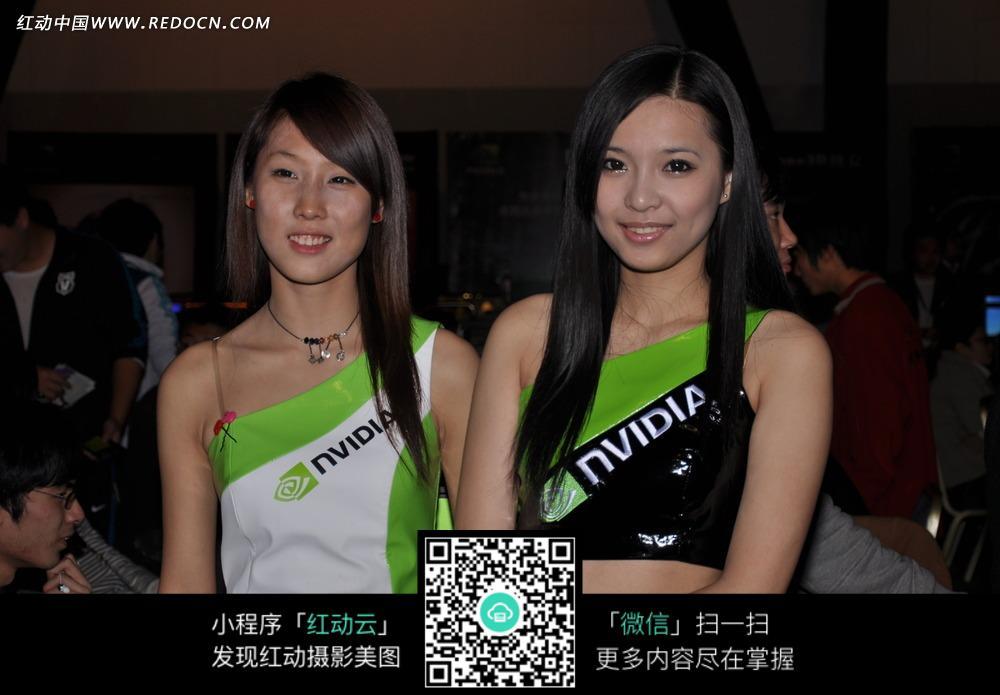 英伟达nvidia的展览会美女图片