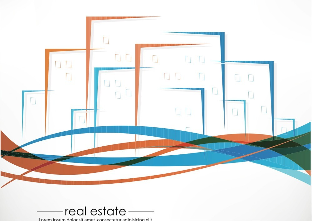 免费素材 矢量素材 空间环境 建筑景观 简笔画房地产素材  请您分享