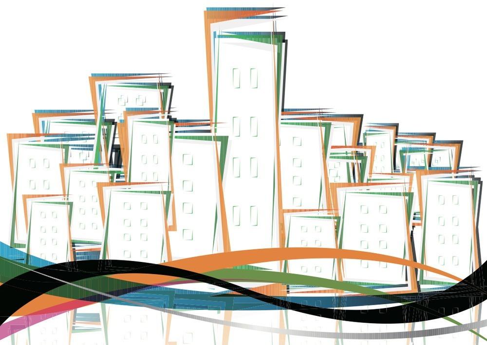 线条手绘房地产素材图片