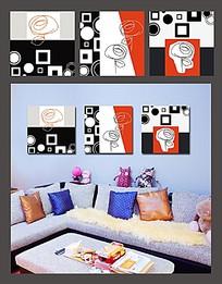 创意图案室内装饰无框画