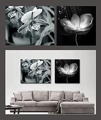 黑白装饰画图案图片 黑白装饰画图案设计素材