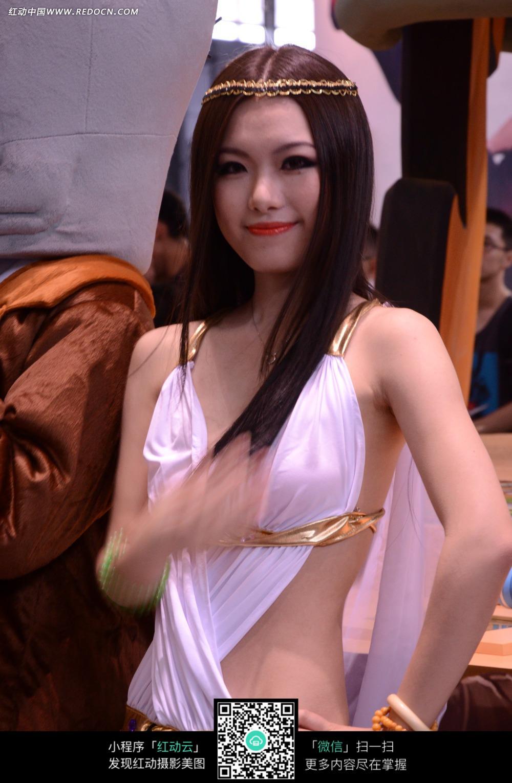 游戏展博览会的美女图片