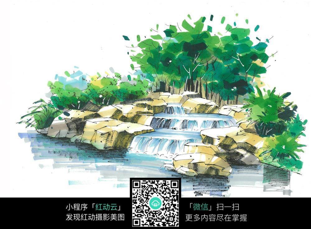园林景观手绘设计图片图片