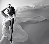 白裙美女写真