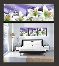 白色花朵室内装饰无框画