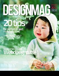 潮流儿童杂志海报封面