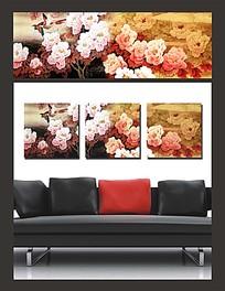 花朵飞鸟图案室内装饰无框画
