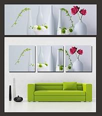 花朵和花瓶室内装饰无框画