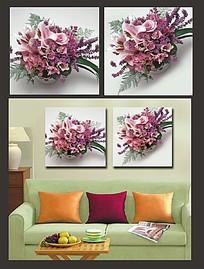 花朵花束室内装饰无框画