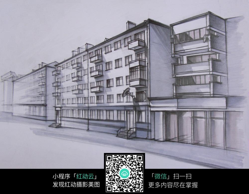 手绘城市插画背景