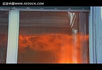 窗内火灾视频素材