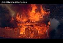 房子烧毁视频素材