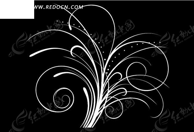 线条螺旋叶子纹路视频素材