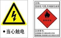 当心触电安全标志