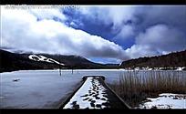 冬日蓝天白云视频素材