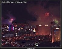 实拍城市烟花美景视频素材