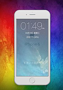iphone6白色3D模型 psd文件