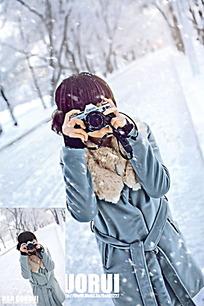 拍照摄影女孩