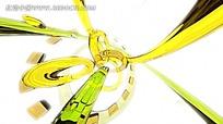 黄色色彩线条反射视频