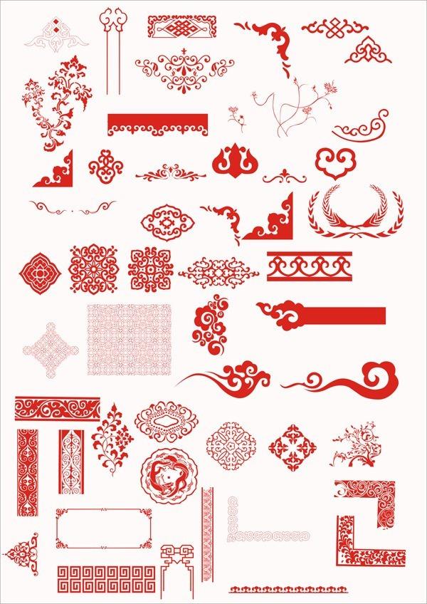 中国传统古典花纹设计图片图片