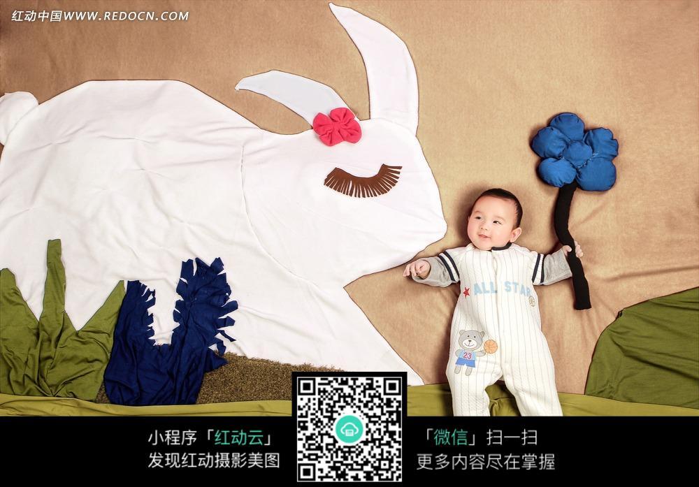 婴儿创意摄影手绘