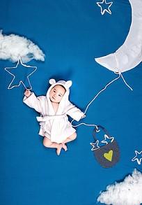 女宝宝室外艺术照图片