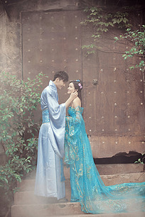 婚纱样片古装婚纱情侣图片