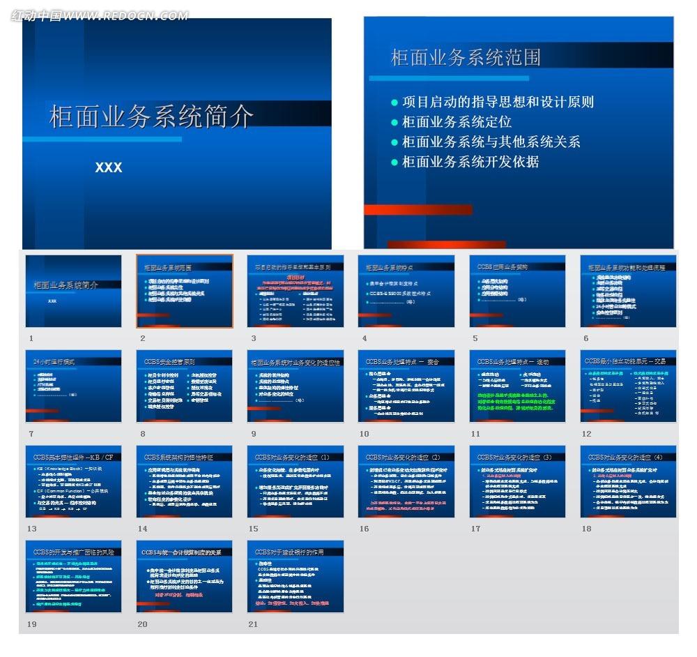 柜面业务系统简介ppt模板