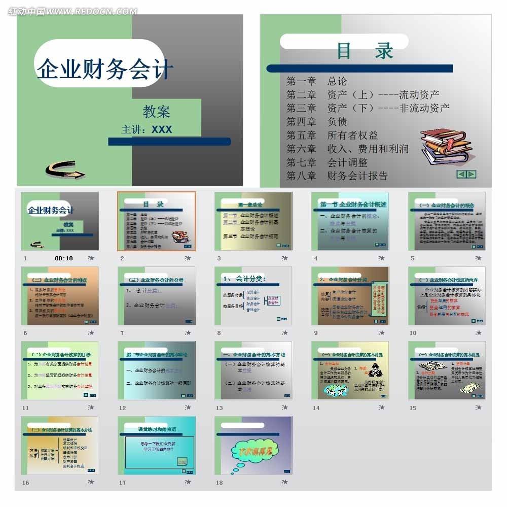 企业财务会计ppt模板免费下载_企业商务素材图片