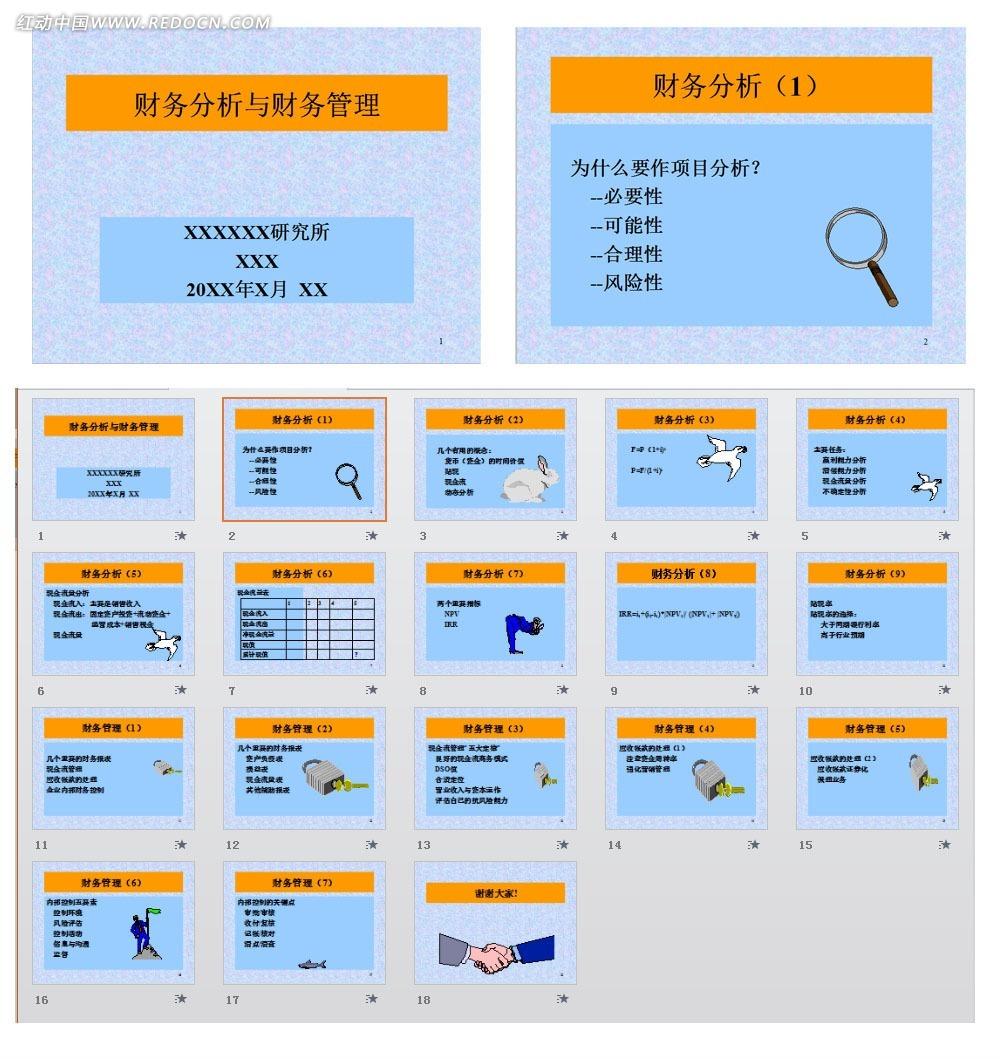 财务分析与财务管理ppt模板免费下载_金融理财素材图片