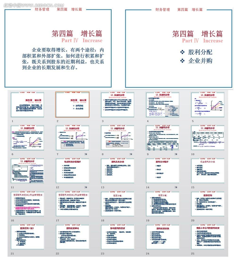 财务管理增长篇ppt模板免费下载_金融理财素材图片