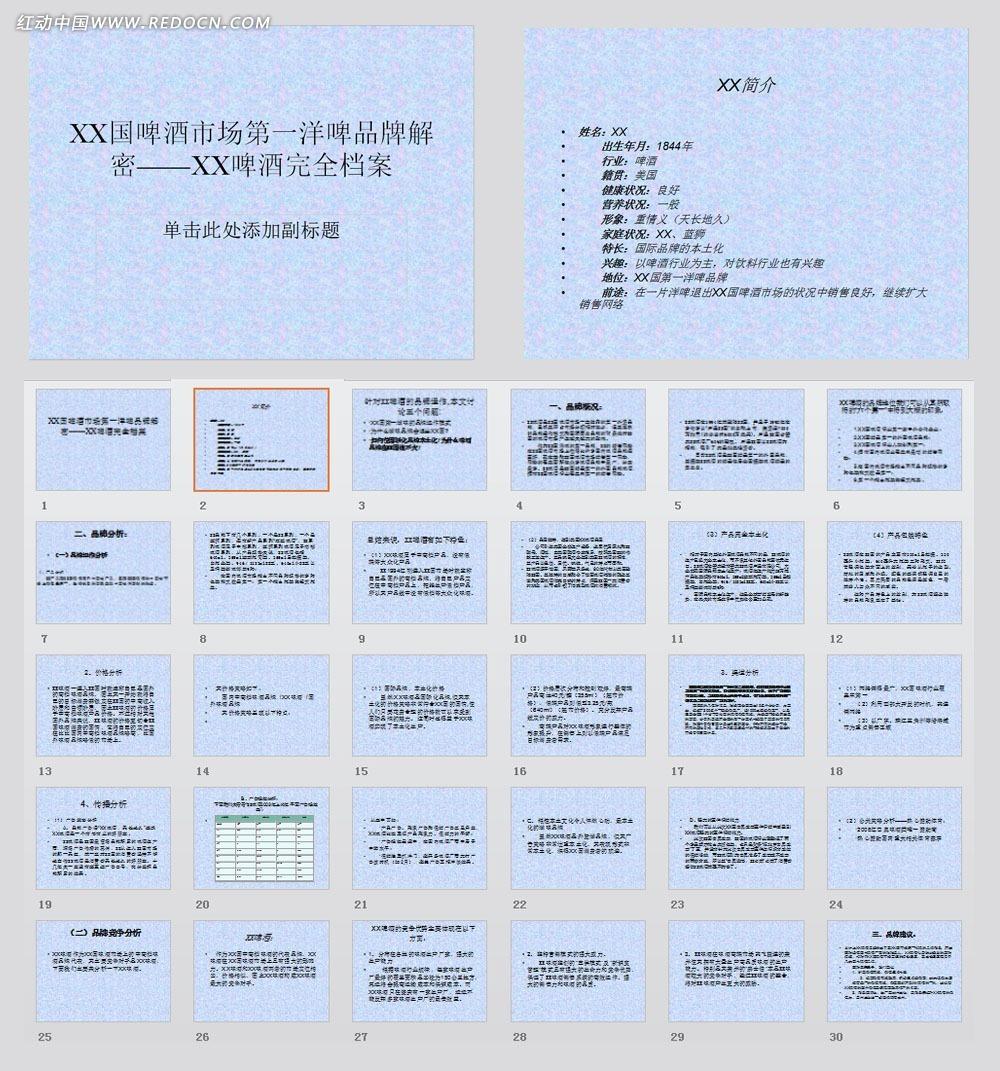 中国啤酒市场第一洋啤品牌解密ppt模板图片