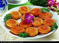 南瓜饼摆盘