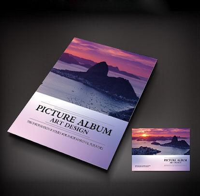 风景画册封面设计图片
